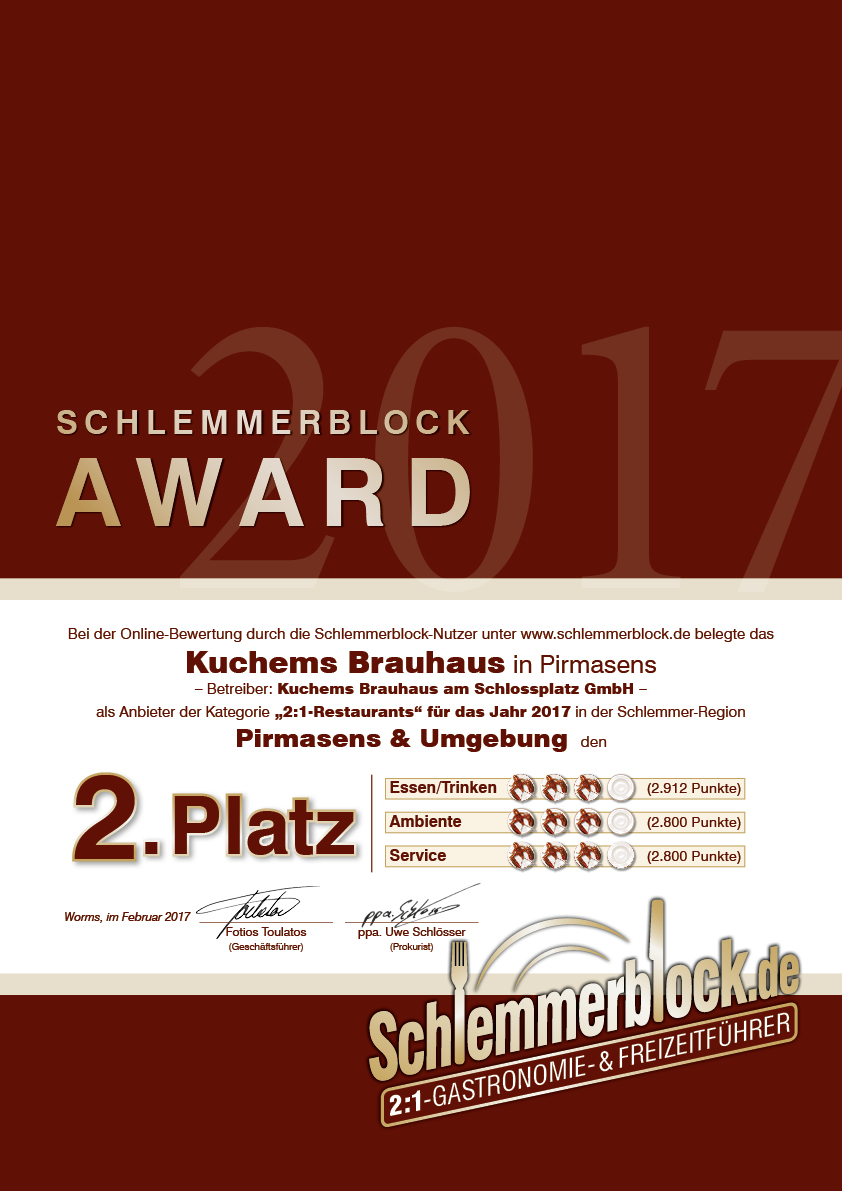 Kuchems Brauhaus Pirmasens Umgebung 2019 Schlemmerblock De