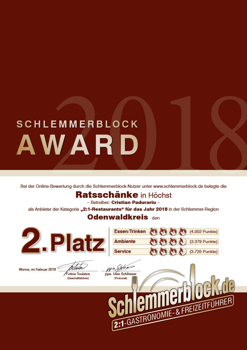 Ratsschänke » Odenwaldkreis 2018 » Schlemmerblock.de